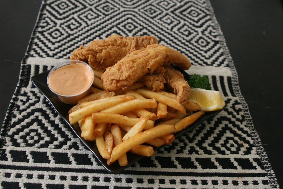 As classic as it sounds. Fried catfish fillets served with French fries and chipotle mayonnaise